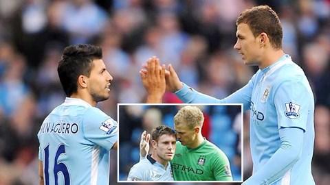 Sergio Aguero, Edin Dzeko và James Milner cùng Joe Hart (ảnh nhỏ) sẽ sớm được Man City gia hạn hợp đồng