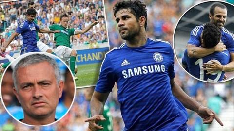 Jose Mourinho tỏ ra hài lòng với các học trò