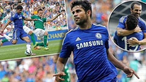 Fabregas và Costa có khởi đầu tốt ở Chelsea