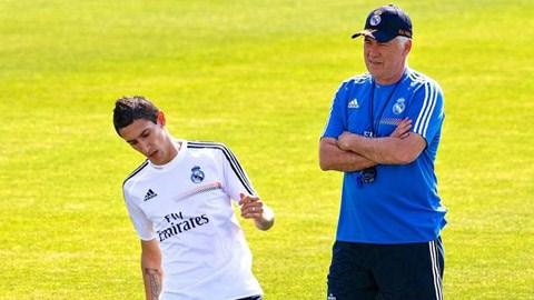 Carlo Ancelotti vẫn chờ đợi diễn biến chuyển nhượng về Di Maria