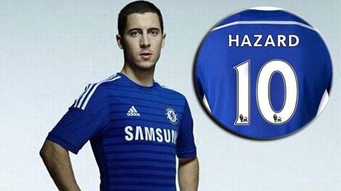 Hazard sẽ thừa kế áo số 10 của Mata