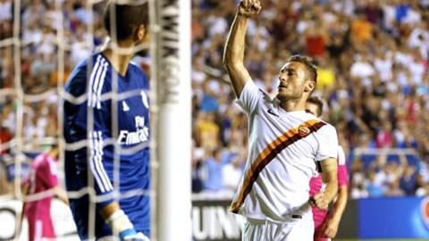 Totti lập công giúp Roma có chiến thắng đầu tay ở International Champions Cup 2014