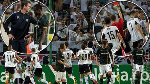 Celtic (áo sẫm) thua đậm trên đất Ba Lan