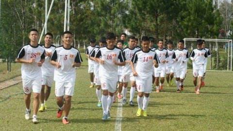 Thời tiết ảnh hưởng đến buổi tập của đội U19 Việt Nam