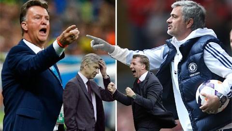 Premier League 2014/15 sẽ vô cùng nóng bỏng với cuộc chiến giữa Mourinho - Van Gaal và Rodgers - Wenger