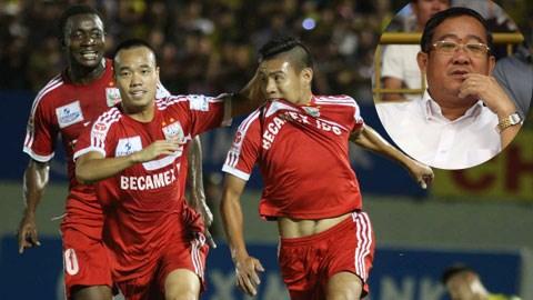 Ông Nguyễn Minh Sơn (ảnh nhỏ) từng nghĩ rằng, phải tới mùa 2015 thì B.BD mới vô địch V-League