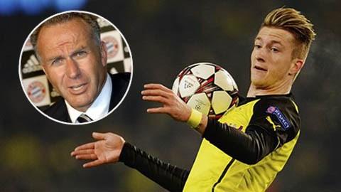 GĐĐH của Bayern cho rằng chỉ cần 25 triệu euro là có thể sở hữu được Reus