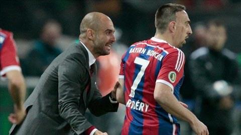 Ribery dường như đang thụt lùi so với đồng đội