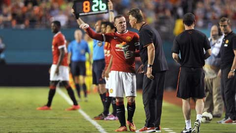 Tiền đạo Rooney đang được Van Gaal rất tin tưởng