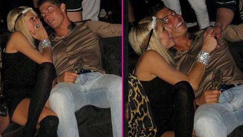 Hình ảnh Ronaldo và Hilton cách đây 5 năm<br />