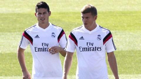 Toni Kroos và James Rodriguez