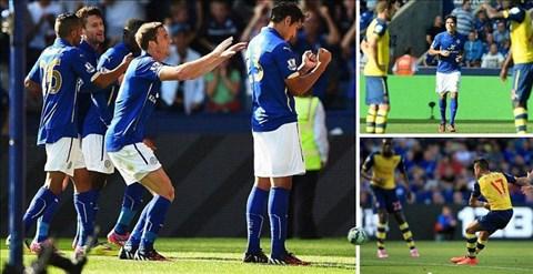 Leicester xuất sắc cầm chân Arsenal