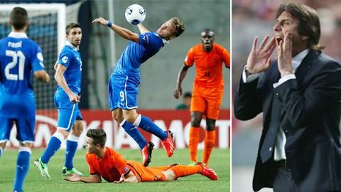 ĐT Italia (trên) dưới thời HLV Conte được kỳ vọng rất lớn