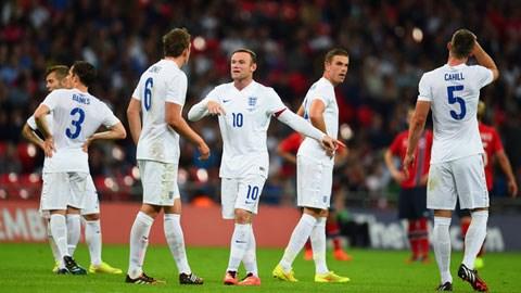 Rooney và các đồng đội một lần nữa thi đấu dưới sức