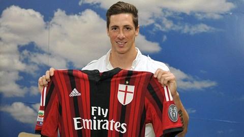 Torres đã gia nhập Milan theo dạng cho mượn