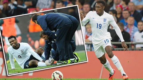 Khi Sturridge (ảnh nhỏ) chấn thương, Welbeck sẽ được đẩy lên đá cặp với Rooney<br />