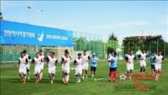 Olympic Việt Nam đã tập buổi đầu tiên tại Incheon