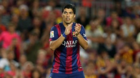 Suarez sẽ mãn hạn treo giò vào ngày 24/10