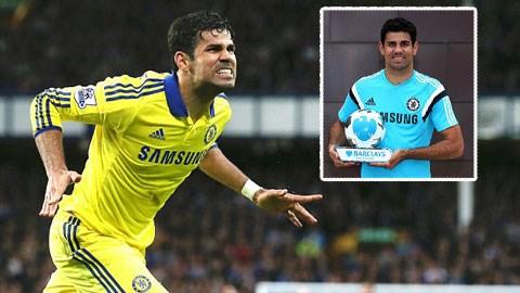 Costa nhận danh hiệu Cầu thủ xuất sắc nhất tháng 8