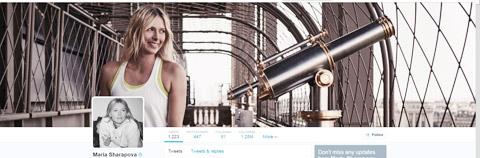 Sharapova chia tay người tình trên Twitter