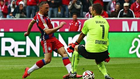 Ribery lập tức ghi bàn ngay trong ngày tái xuất sau chấn thương