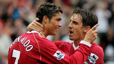 Gary Neville vs  Ronaldo