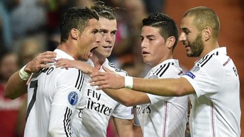 4 ngôi sao lập công cho Real trong chiến thắng đêm qua