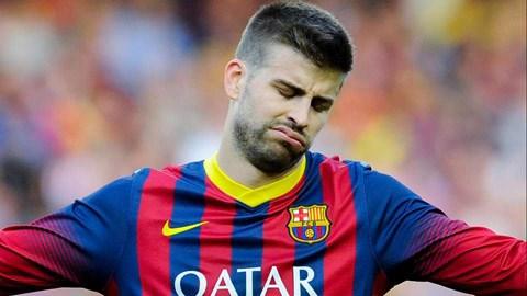 Vị trí của Pique ở Barca đang bị đe dọa