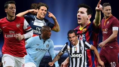 Những cặp đấu đáng xem nhất Champions League tuần...