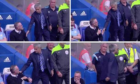"""Mourinho """"tẽn tò"""" vì bị đồng nghiệp từ chối bắt tay"""