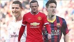 """Rooney không thể ngồi """"chung mâm"""" với Ronaldo và Messi"""