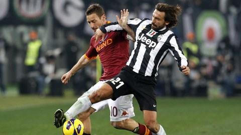 2 ngày trước trận Juventus - Roma: Ngày Totti gặp Pirlo