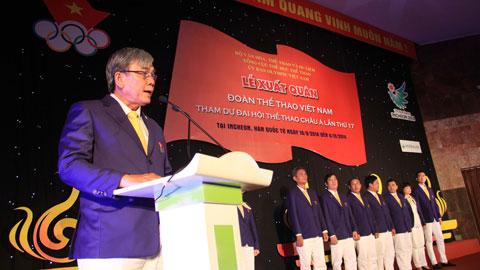 """Trưởng đoàn TTVN dự Asiad 2014 Lâm Quang Thành: """"Chúng ta đã tiệm cận trình độ hàng đầu châu lục"""""""