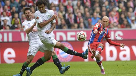 Vòng 7 Bundesliga: Bayern đại thắng, Dortmund thua sốc