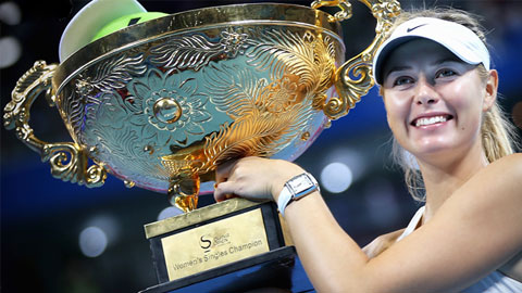 Sharapova và Djokovic đăng quang tại China Open