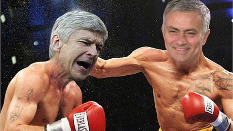 Ảnh chế: Wenger và Mourinho hóa thành võ sĩ