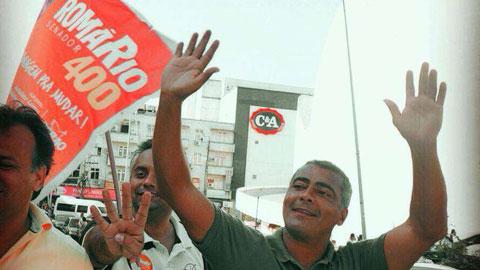 Romario được bầu vào Thượng viện Brazil