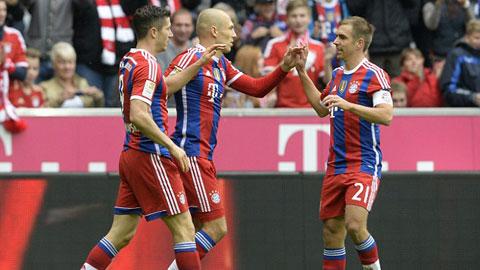 """Bundesliga: Bayern """"vô đối"""" nhưng cuộc đua vẫn hấp dẫn"""