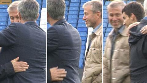 Abramovich thân chinh xuống sân chúc mừng chiến thắng của Chelsea