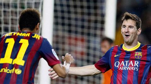 Barca quá phụ thuộc vào Messi và Neymar