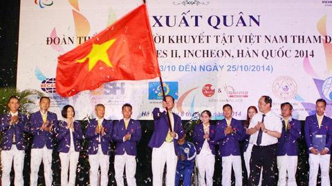 Đoàn TTVN xuất quân dự Asian Para Games 2