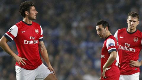 Đội hình 11 cầu thủ không thể ra sân của Arsenal