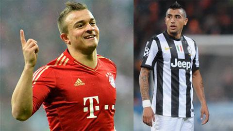Shaqiri sẽ thế vai Vidal tại Juve?