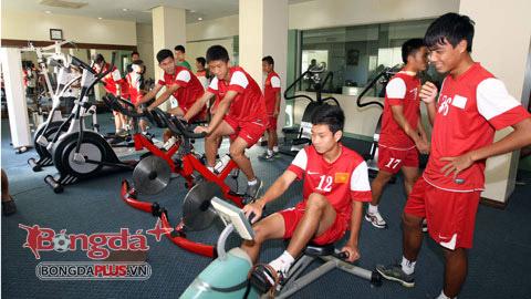 U19 Việt Nam tích cực tập thể lực trước trận đấu với U19 Trung Quốc
