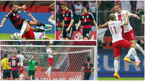 Đức thua sốc 0-2 trên đất Ba Lan: Cái tát điếng người!