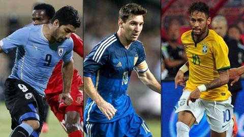 Bộ ba Messi-Neymar-Suarez: 8 bàn thắng trong 12 giờ