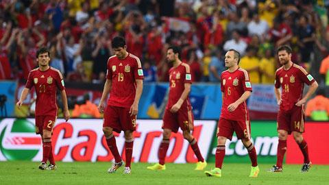 2014 – Năm thảm họa với các đội tuyển Tây Ban Nha