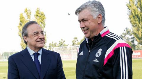 """HLV Ancelotti: """"Tôi sẽ từ chức nếu Perez lấn sân"""""""