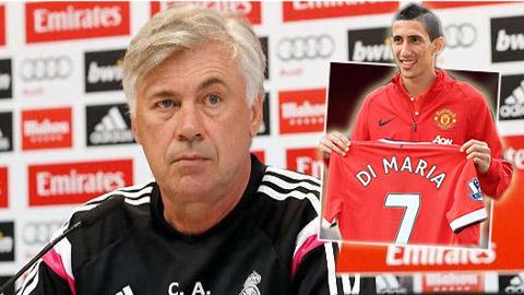 Ancelotti cáo buộc Di Maria đến M.U vì tiền