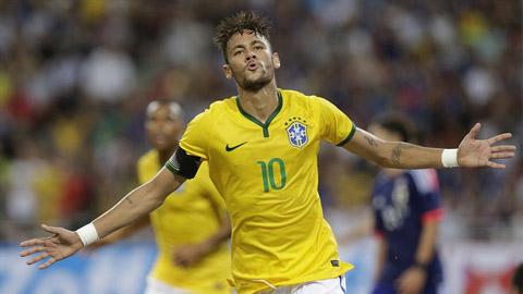 Neymar trở thành cầu thủ trẻ thứ 2 trong lịch sử Brazil chạm mốc 40 bàn
